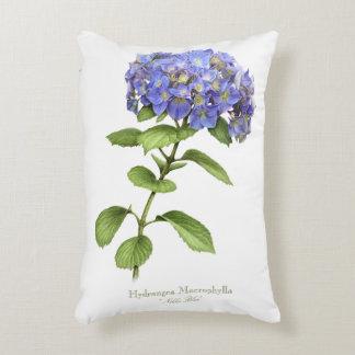 Azul de Nikko del Hydrangea Cojín Decorativo