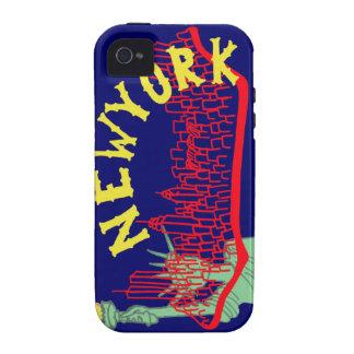 Azul de Nueva York Case-Mate iPhone 4 Carcasa