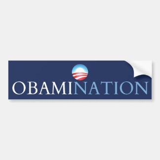 Azul de Obamination (Obamanation) Pegatina Para Auto