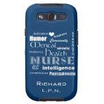 Azul de /Ocean de las Enfermera-Cualidades de la s Samsung Galaxy S3 Carcasas
