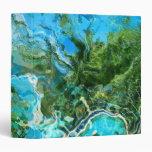 Azul de océano abstracto de la turquesa y verde de