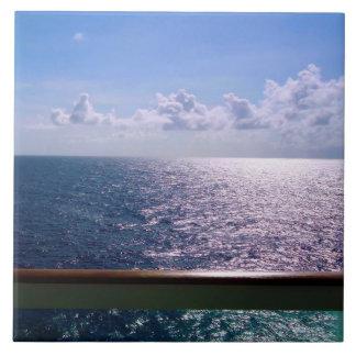 Azul de océano azulejo cuadrado grande