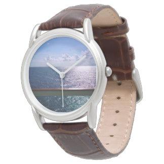 Azul de océano para hombre reloj