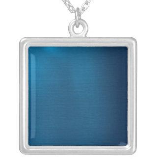 Azul de océano profundo metálico colgante cuadrado