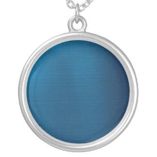 Azul de océano profundo metálico colgante redondo