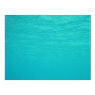 Azul de océano subacuático postal
