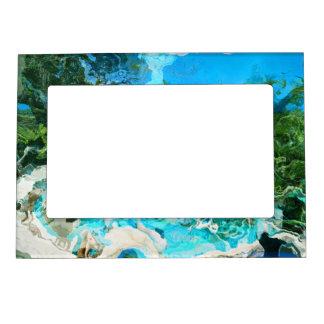 Azul de océano tropical de la turquesa y verde de marcos magnéticos de fotos