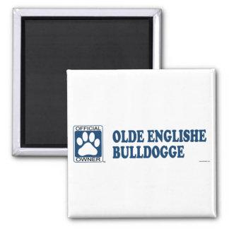 Azul de Olde Englishe Bulldogge Imán De Frigorífico