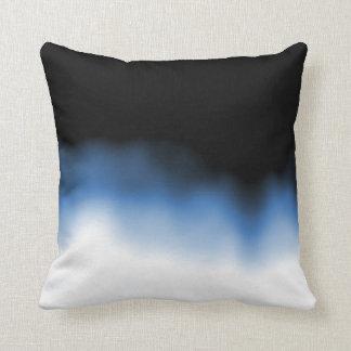 Azul de Ombre de la mancha de tinta Cojín Decorativo