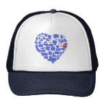 Azul de Oregon del mosaico del corazón de los Gorros