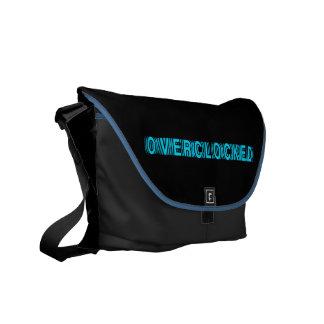 Azul de Overclocked Bolsa Messenger