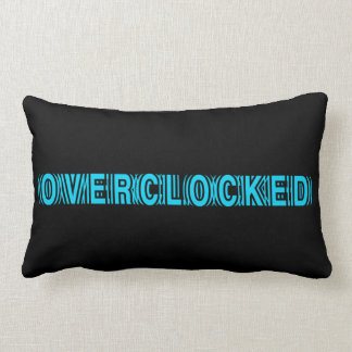 Azul de Overclocked Cojin