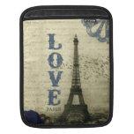 Azul de París el | del vintage Fundas Para iPads
