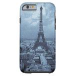 Azul de París Francia 1900 de la torre Eiffel
