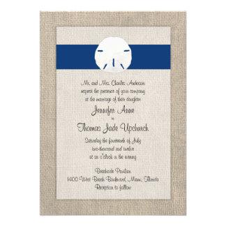 Azul de pavo real de la invitación del boda de pla