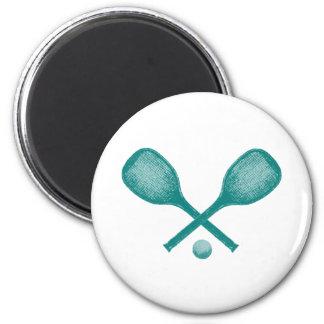 azul de pavo real de las estafas de tenis imán redondo 5 cm