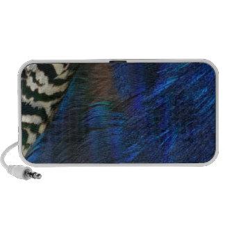 Azul de pavo real exótico altavoces