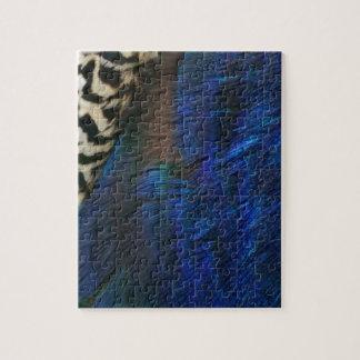 Azul de pavo real exótico rompecabeza