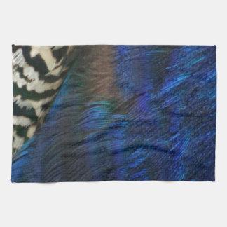 Azul de pavo real exótico toallas