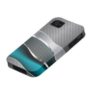 Azul de pavo real futurista de alta tecnología del carcasa Case-Mate para iPhone 4