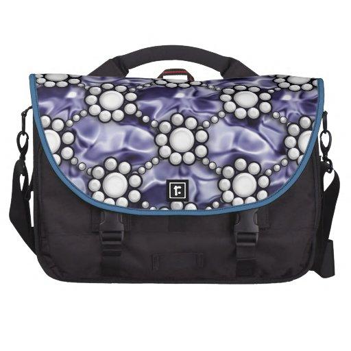 azul de perla del satén bolsa para ordenador