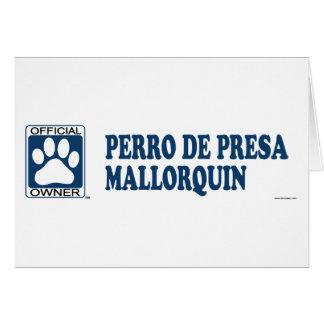 Azul de Perro De Presa Mallorquin Tarjeta De Felicitación