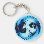 azul de Phoenix que brilla intensamente Llavero Personalizado