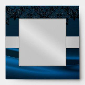Azul de plata de la mascarada Jeweled casando el s Sobres