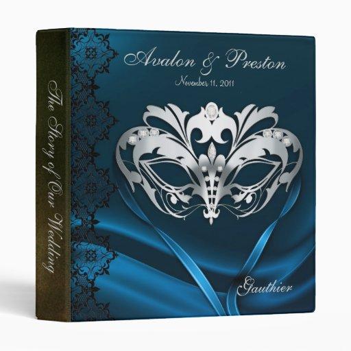 Azul de plata de la mascarada Jeweled casando la c