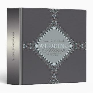 """Azul de plata del satén+Carpeta gris del álbum del Carpeta 1 1/2"""""""