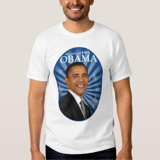 Azul de presidente Obama Remeras
