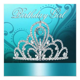 Azul de princesa Tiara Birthday Girl) Anuncios Personalizados