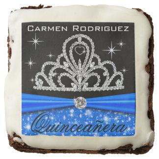 Azul de princesa Tiara Diamond el | de Quinceanera