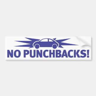 ¡Azul de Punchbuggy - ningún Punchbacks! Etiqueta De Parachoque