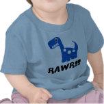 Azul de Rawr Dino Camisetas