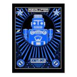 Azul de Reolution del robot Postales