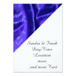 Azul de seda precioso invitación 12,7 x 17,8 cm