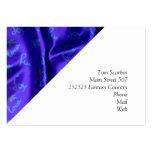 Azul de seda precioso tarjetas de visita grandes
