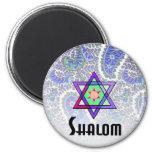Azul de Shalom Paisley Imanes