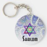 Azul de Shalom Paisley Llaveros Personalizados