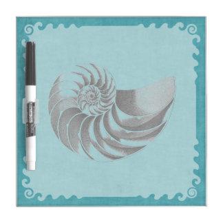 Azul de Shell del vintage Tableros Blancos