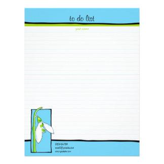 Azul de Snowdrop para hacer la lista Membrete Personalizado