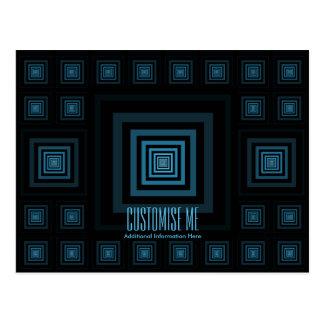 Azul de Squareception (modelo cuadrado) Tarjeta Postal