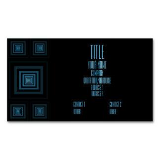 Azul de Squareception (modelo cuadrado) Tarjetas De Visita Magnéticas (paquete De 25)