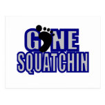Azul de Squatchin y logotipo del lt gris Postal