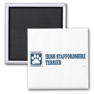 Azul de Staffordshire Terrier del irlandés Imán Cuadrado