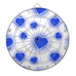 Azul de Starburst 3 del corazón Tabla Dardos