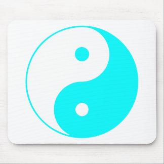Azul de Taijitu del chino de la muestra del Taoism Alfombrilla De Ratón