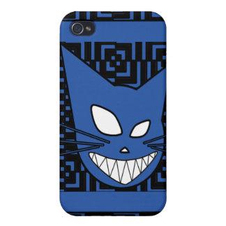 Azul de Techi Kitteh iPhone 4/4S Carcasa