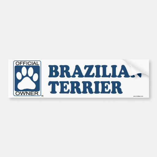 Azul de Terrier del brasilen@o Pegatina Para Auto